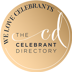 The celebrant Directory Logo (gold) - our sister company